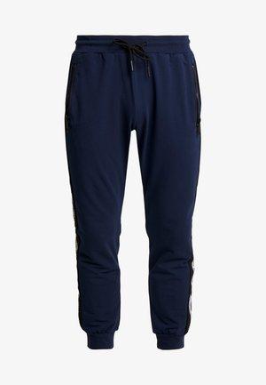 PANT WITH CONTRAST COLOUR AND LOGO TAPE - Teplákové kalhoty - avio blu