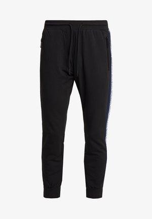 PANT WITH CONTRAST COLOUR AND LOGO TAPE - Teplákové kalhoty - black