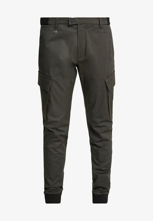 PANT ON BOTTOM LEGS - Cargo trousers - green