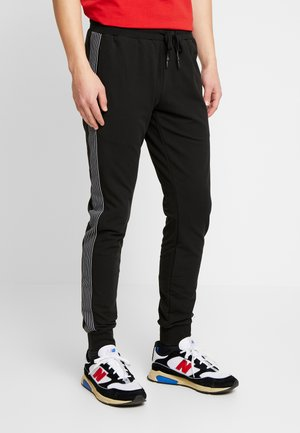 PANT WITH TAPE AND EMBOSSED - Verryttelyhousut - black