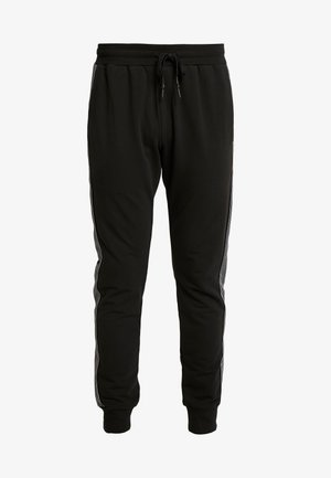 PANT WITH TAPE AND EMBOSSED - Tracksuit bottoms - black
