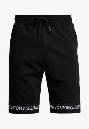 SHORT PANT WITH LOGO TAPE - Tracksuit bottoms - black