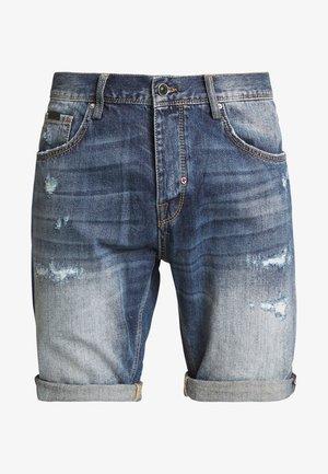 SLIMBAART - Shorts di jeans - denim blue