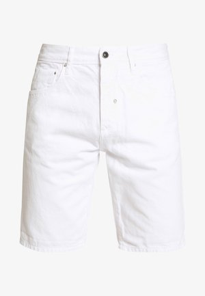 SLIM ARGON - Denim shorts - white