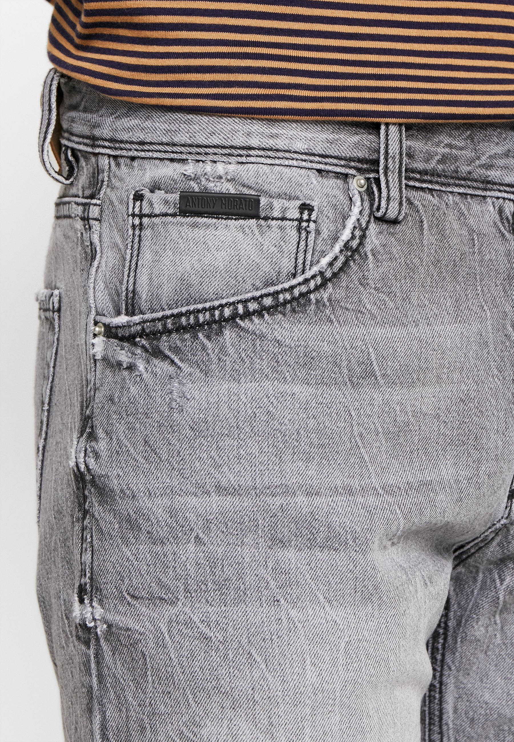 Antony Morato SLIMBAART - Jeansshorts - denim blue