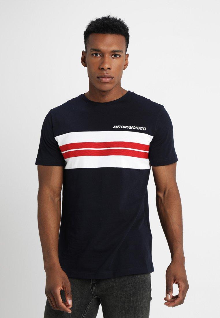 Antony Morato - TAPE AND LOGO - T-shirt print - ink blue