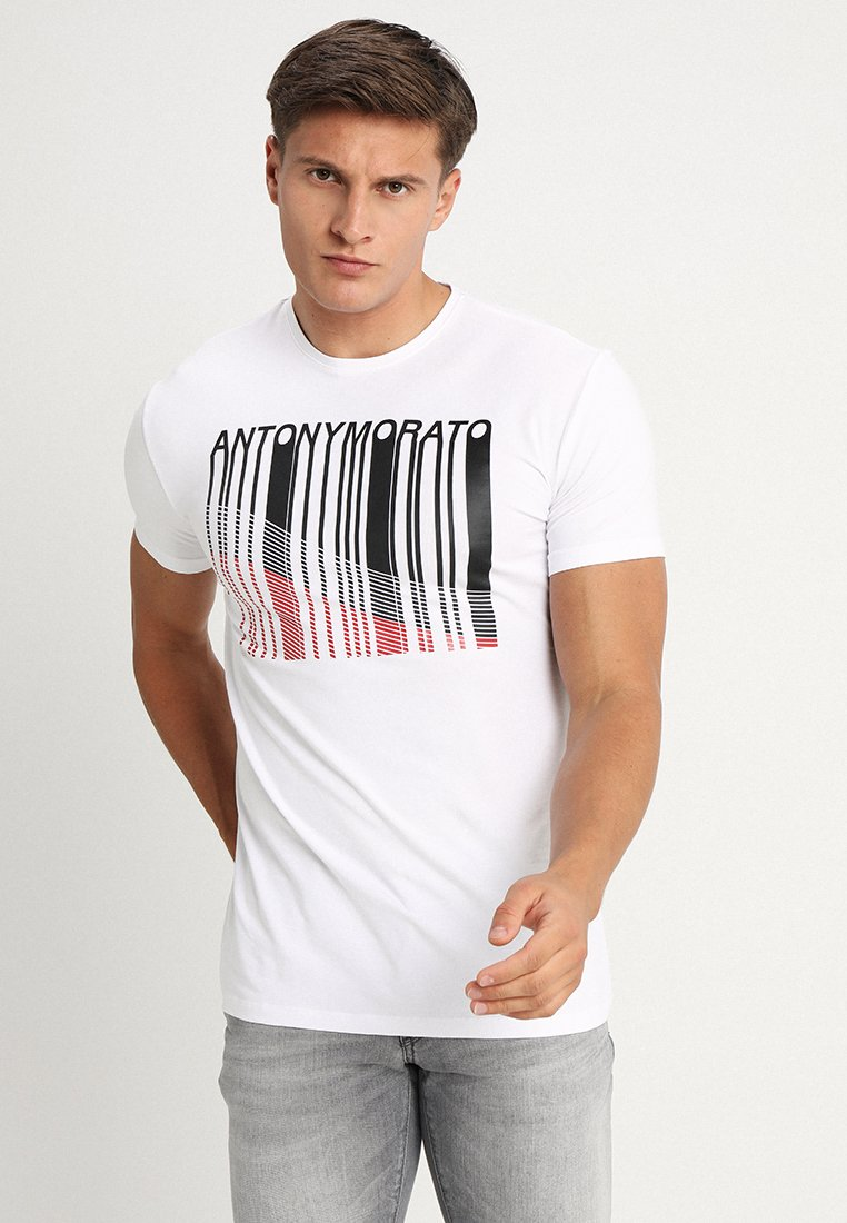 Antony Morato - HALF SLEEVES ROUND COLLAR - T-shirt print - bianco