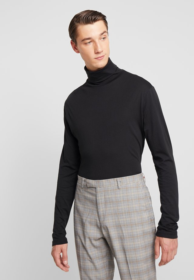 LONG SLEEVES TOURTLE NECK COLLAR - Long sleeved top - black