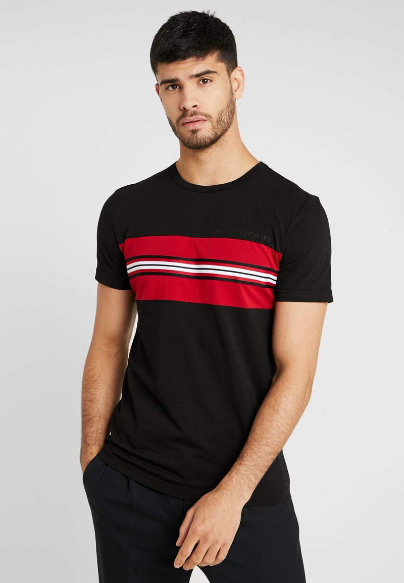 Antony Morato - WITH TAPE AND LOGO PRINT - T-shirt imprimé - black