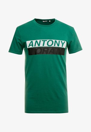 ROUND COLLAR WITH FRONT - Print T-shirt - deep green