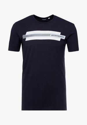ROUND COLLAR  - Print T-shirt - ink blue