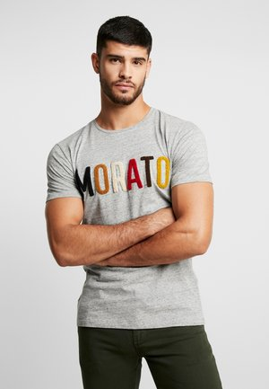 ROUND COLLAR WITH FRONT SPONGE MORATO - Print T-shirt - medium grey melange