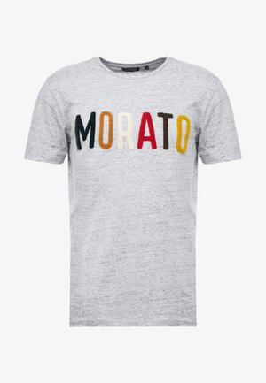 ROUND COLLAR WITH FRONT SPONGE MORATO - T-shirt med print - medium grey melange