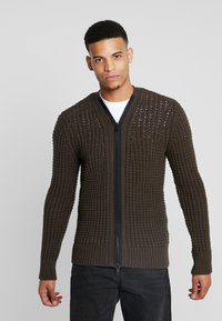 Antony Morato - WITH FRONT ZIP - Cardigan - military green - 0