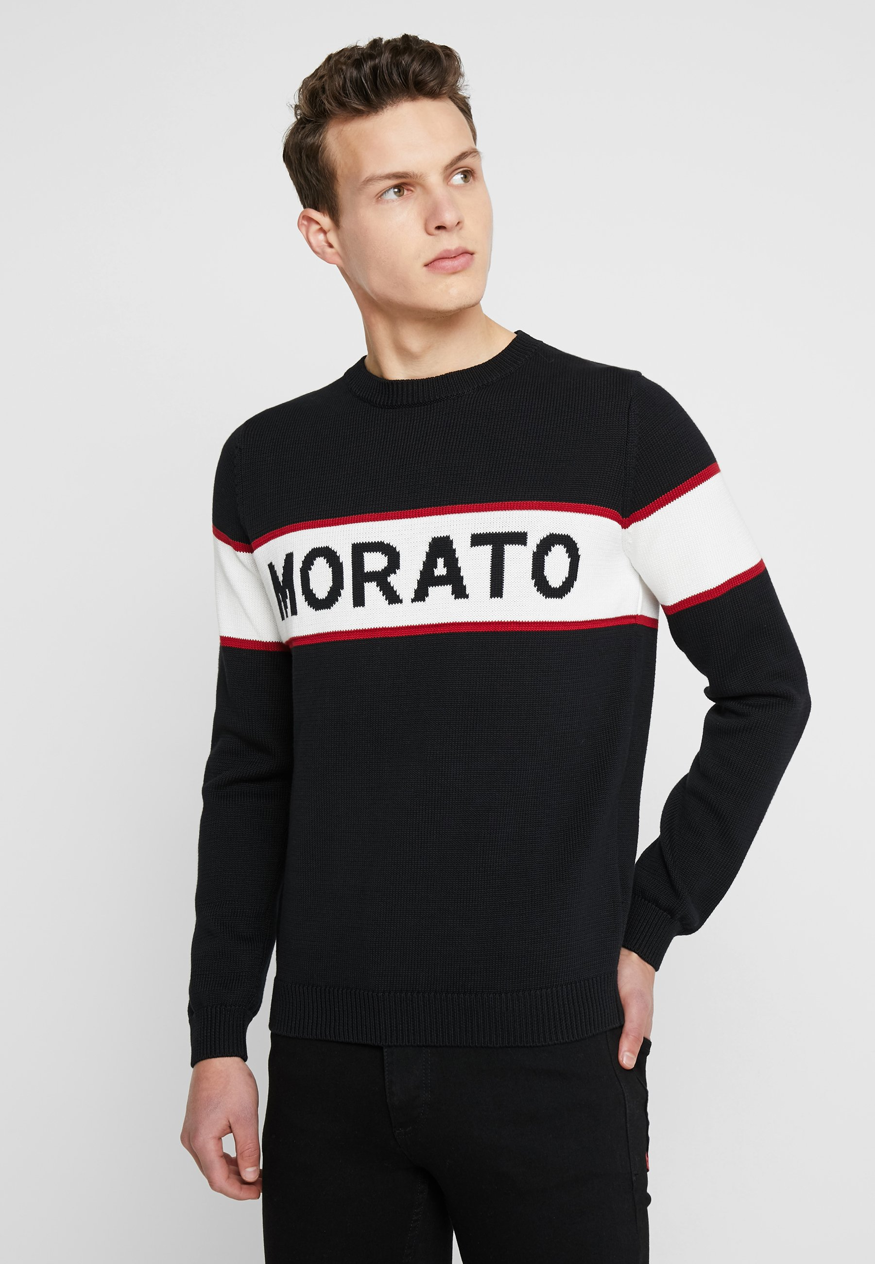 FrontPullover Round Collar With Antony Morato Black kXZTwOPiu