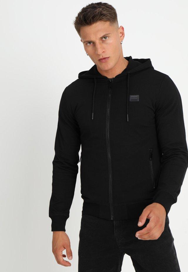 FELPA BASICA CON CAPPUCCIO - Zip-up hoodie - nero