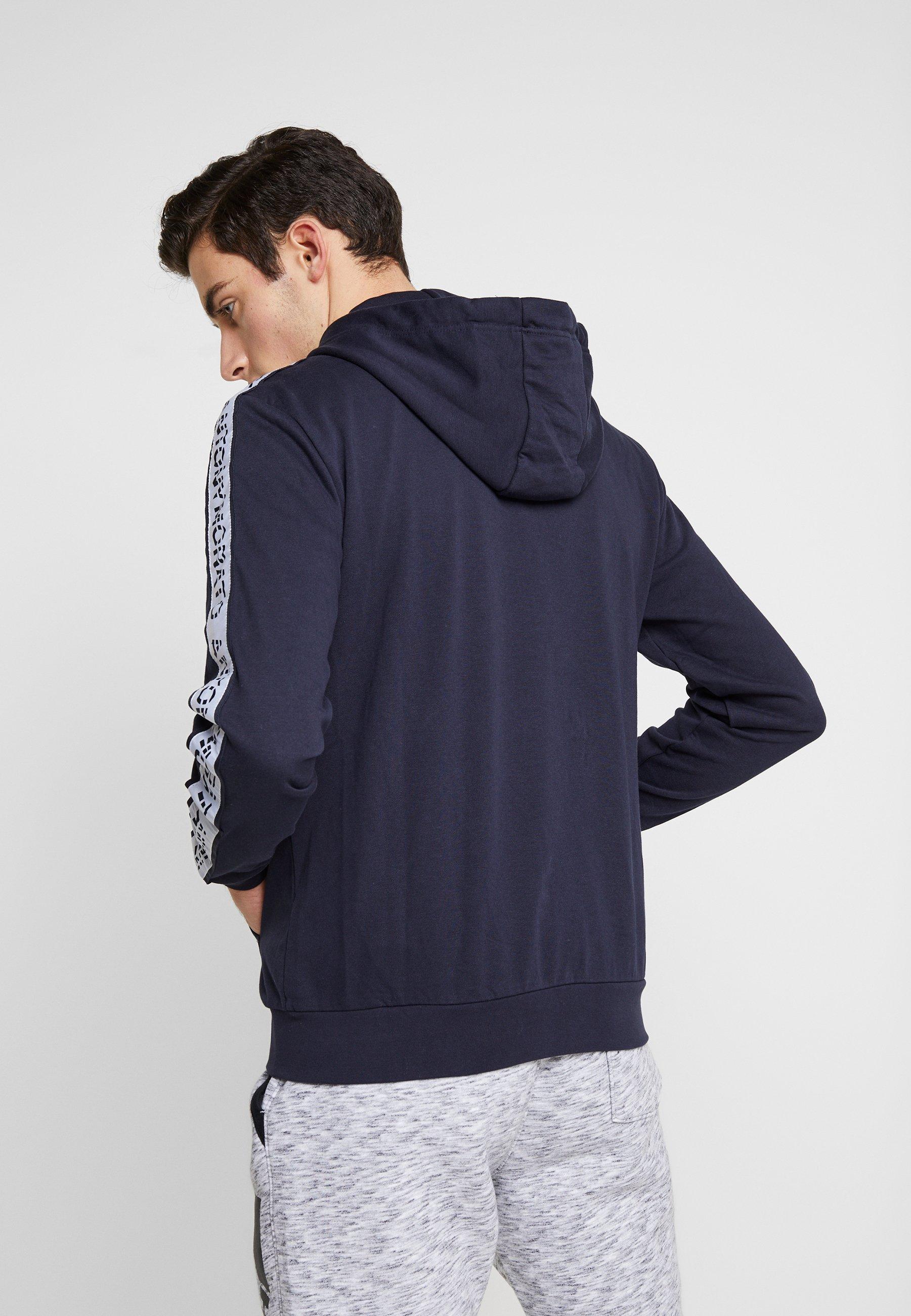 Antony Morato ZIP HOOD AND LOGO TAPE ON SLEEVES - Bluza rozpinana - ink blue