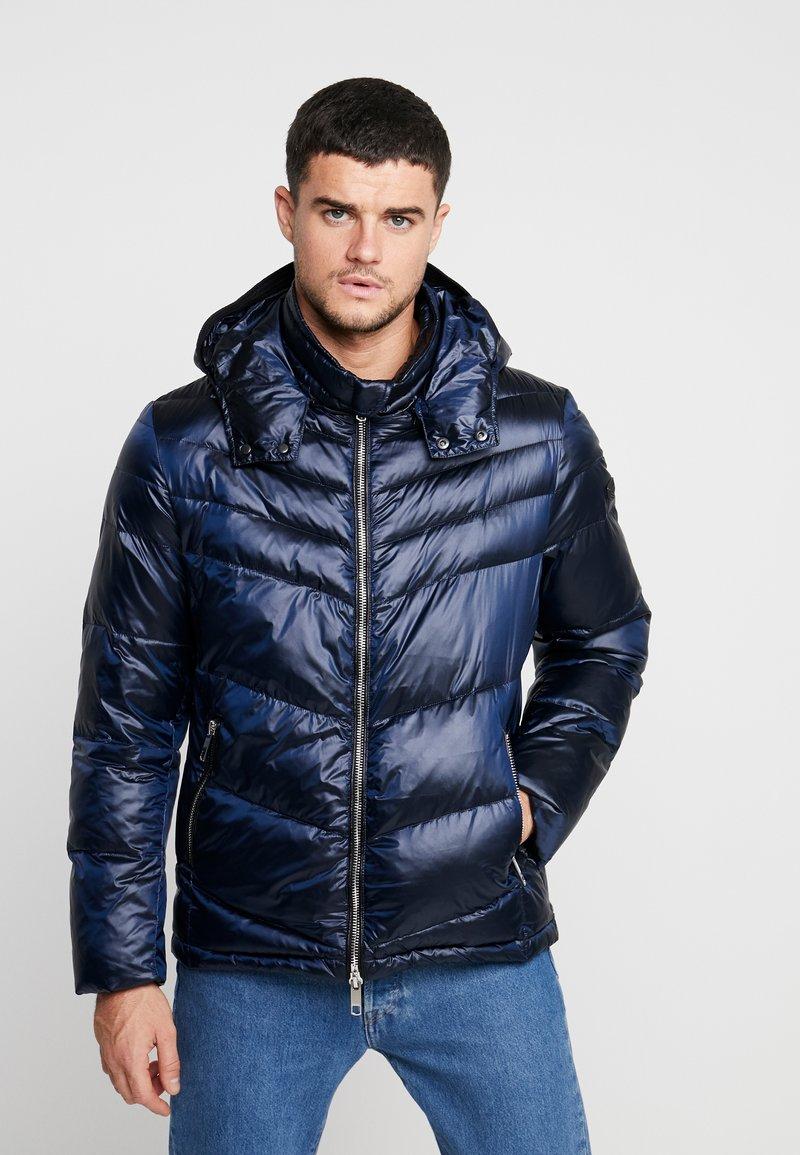 Antony Morato - COAT WITH DETACHABLE HOOD AND PATCH - Zimní bunda - blue lapis