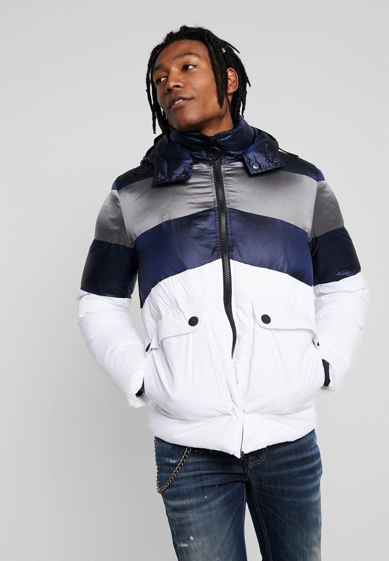 Antony Morato - COAT WITH STRIPES AND DETACHABLE HOOD - Winter jacket - white