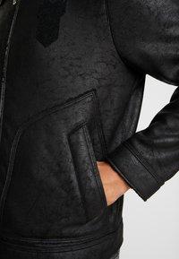 Antony Morato - SHEARLING - Faux leather jacket - black - 3