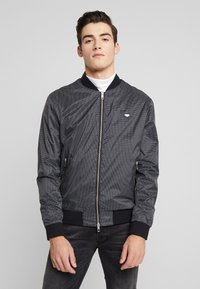 Antony Morato - FRONT ZIP AND TAPE ON SHOULDER - Bomber Jacket - black - 0
