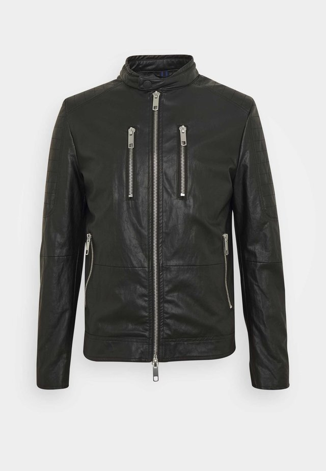 BIKER COAT - Jacka i konstläder - black