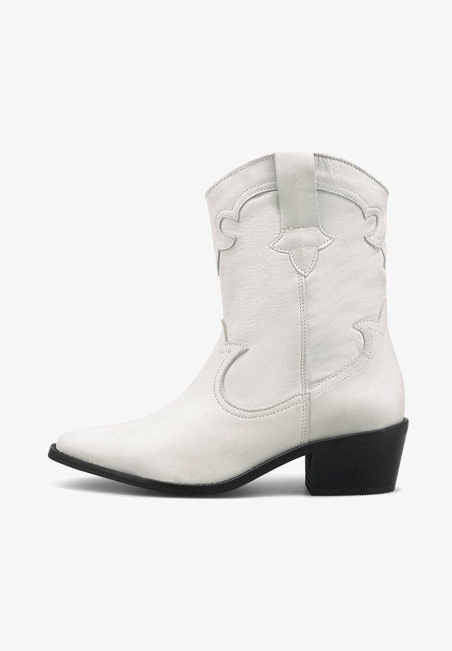 WESTERN - Classic ankle boots - weiß