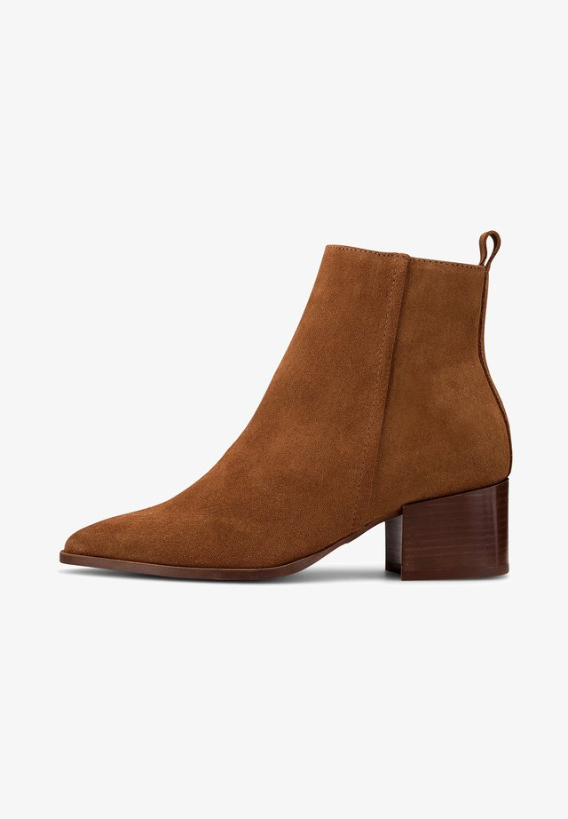 Classic ankle boots - mittelbraun
