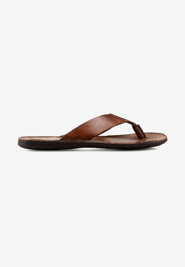 T-bar sandals - dunkelbraun