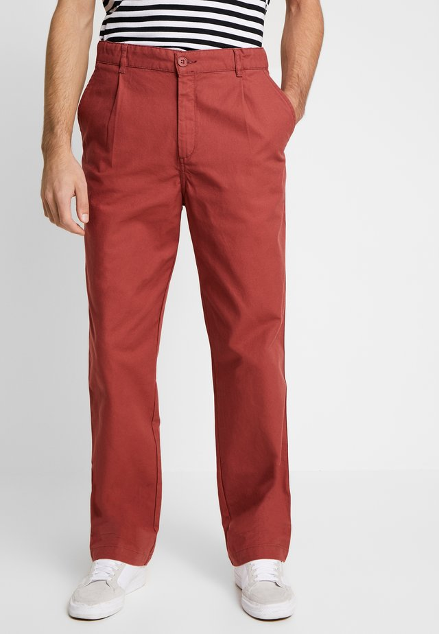 PANTALON GABARE - Spodnie materiałowe - red