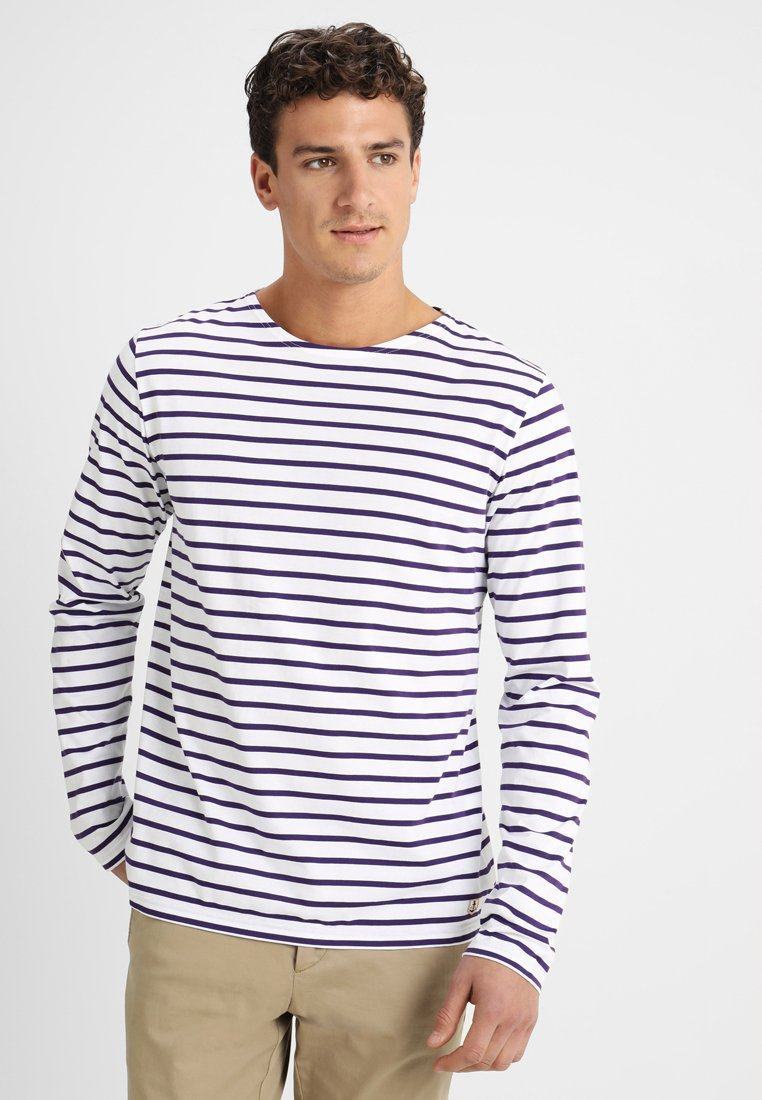 Armor lux - MARINIERE MANCHES LONGUES HERITAGE - Long sleeved top - blanc/violet