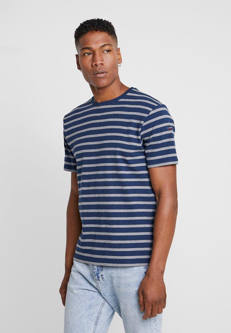 Armor lux - RIB STRIPED  - T-shirt med print - marine vintage/slate