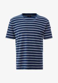 Armor lux - RIB STRIPED  - T-shirt med print - marine vintage/slate - 4