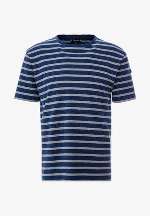 RIB STRIPED  - T-shirt med print - marine vintage/slate