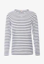 PLOZÉVET TEE - Long sleeved top - white / blue