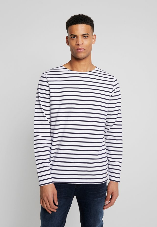 PLOZÉVET TEE - Langærmede T-shirts - white / blue