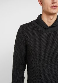 Armor lux - SHAWL COLLAR HEAVY  - Maglione - anthracite - 5