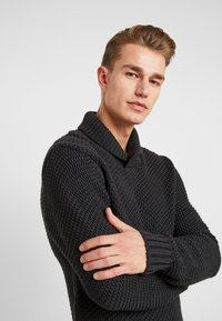 Armor lux - SHAWL COLLAR HEAVY  - Maglione - anthracite - 4