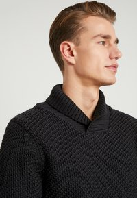 Armor lux - SHAWL COLLAR HEAVY  - Maglione - anthracite - 3
