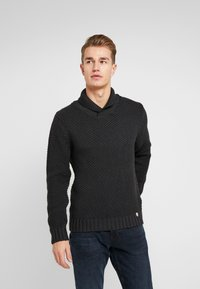 Armor lux - SHAWL COLLAR HEAVY  - Maglione - anthracite - 0