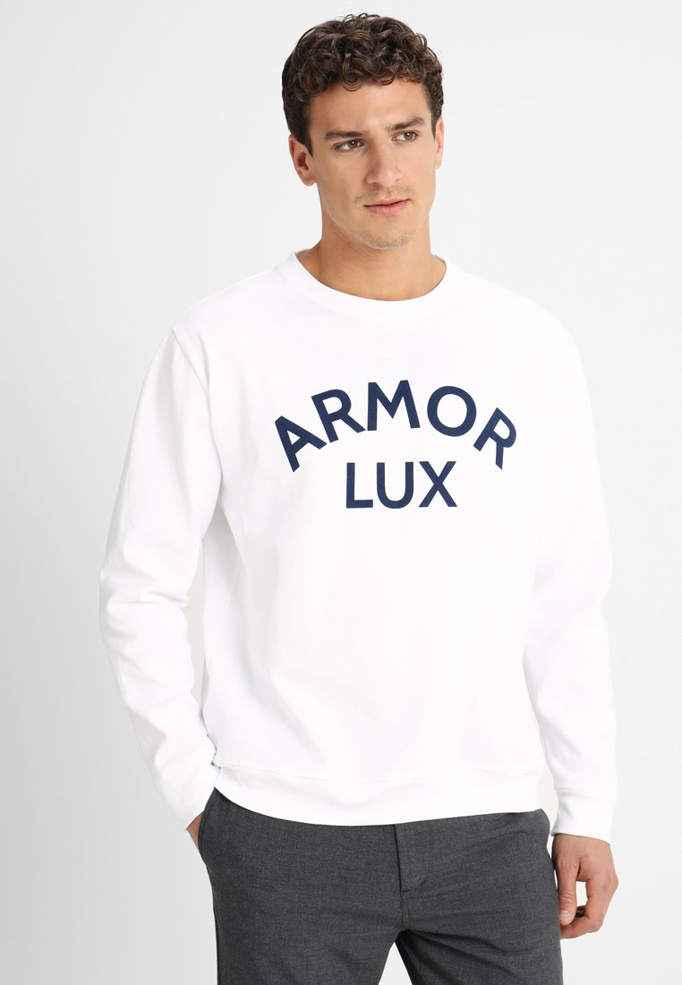 Armor lux - HERITAGE - Jumper - blanc imprimé armor