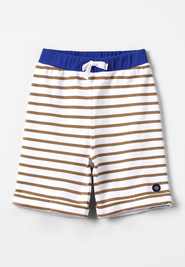 BERMUDA - Shorts - blanc/tabacco/etoile