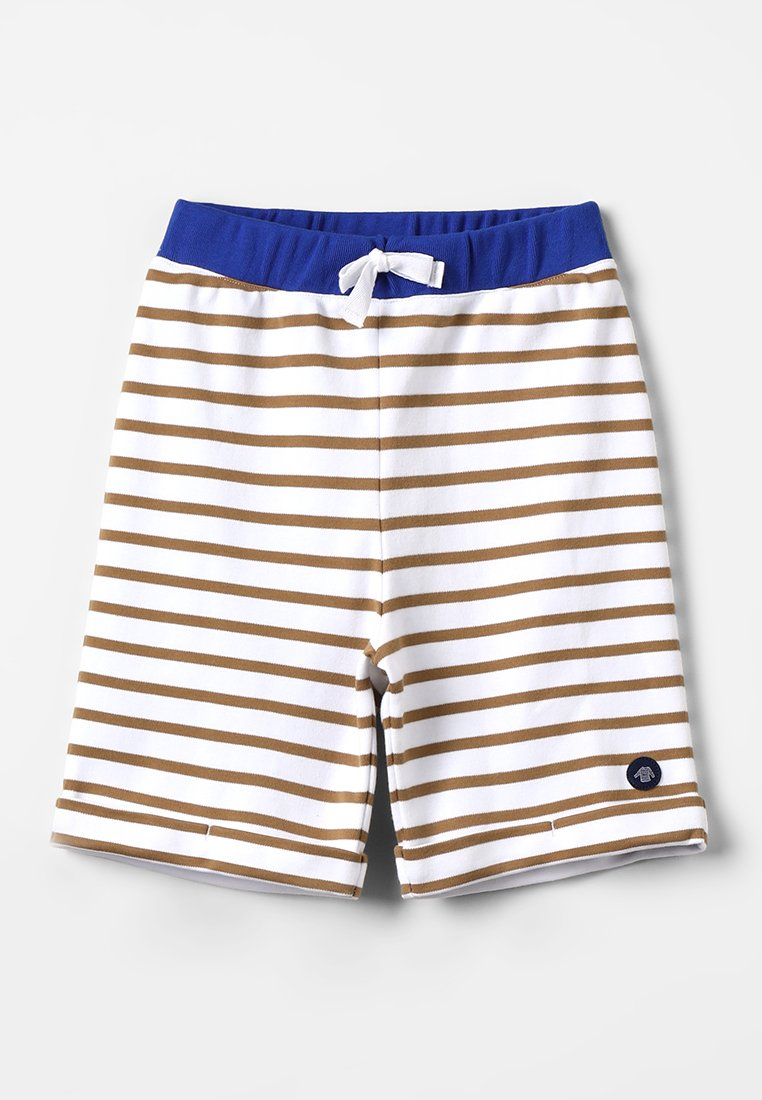 Armor lux - BERMUDA - Shorts - blanc/tabacco/etoile