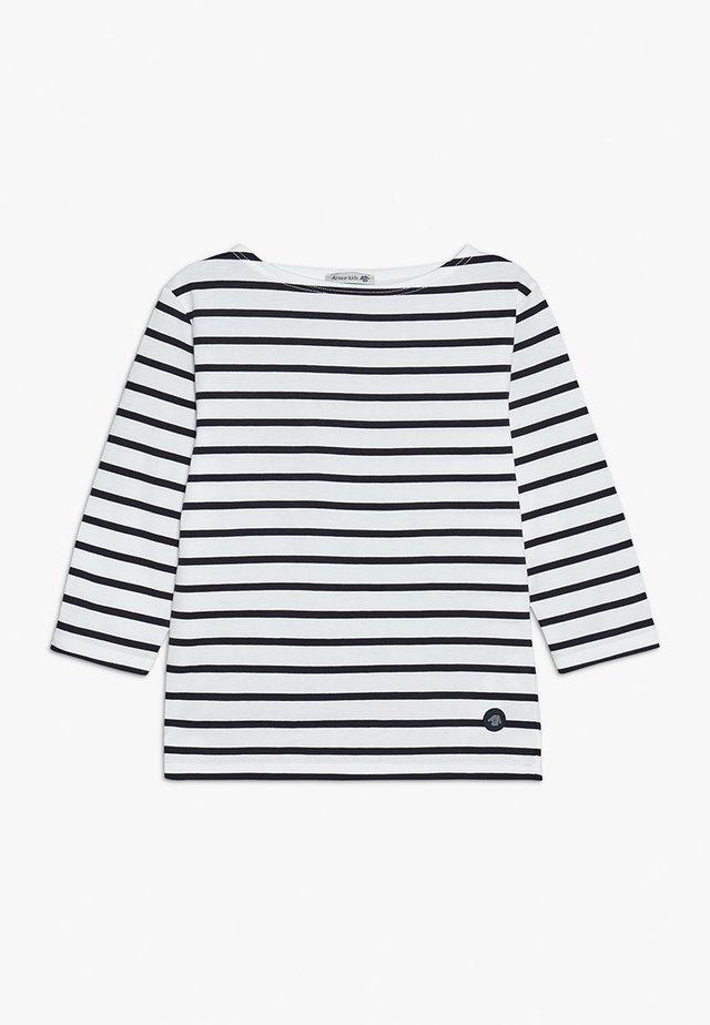 MARINIERE - Camiseta de manga larga - blanc/navire