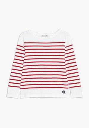 MARINIÈRE AMIRAL KIDS - Long sleeved top - blanc/braise