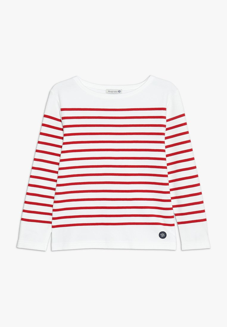 Armor lux - MARINIÈRE AMIRAL KIDS - Long sleeved top - blanc/braise