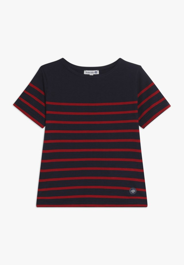 MARINIÈRE ETEL KIDS - T-shirts print - navire/braise