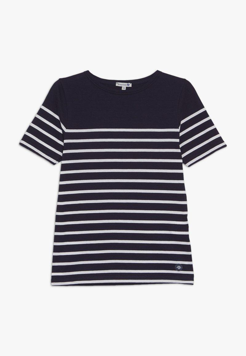 Armor lux - MARINIÈRE ETEL KIDS - Print T-shirt - navire/blanc