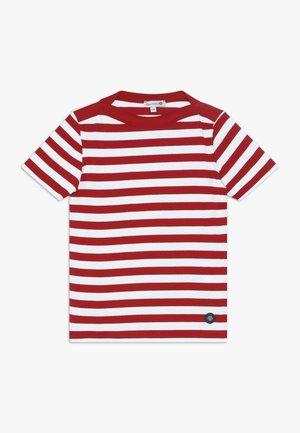 MARINIÈRE CARANTEC KIDS - T-shirt imprimé - braise/blanc