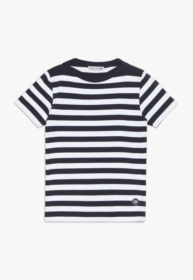 MARINIÈRE CARANTEC KIDS - T-shirts print - navire/blanc